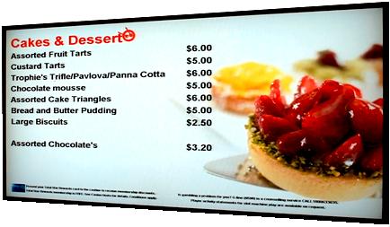 Example of a custom menu